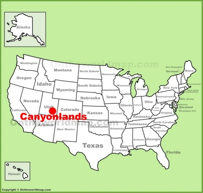 Canyonlands National Park Location Map