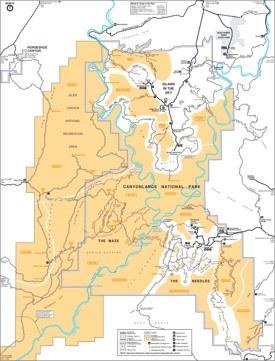 Canyonlands National Park Maps USA Maps of Canyonlands National