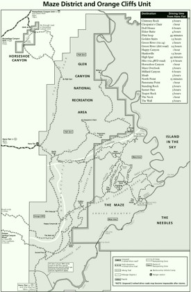 Canyonlands Maze hiking map