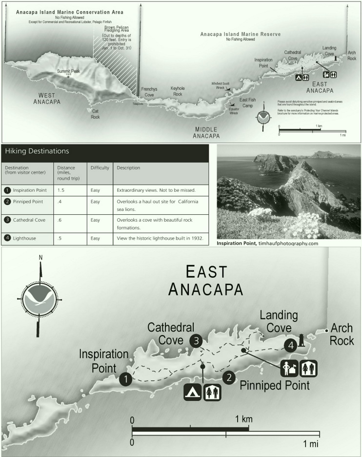 Anacapa Island hiking map