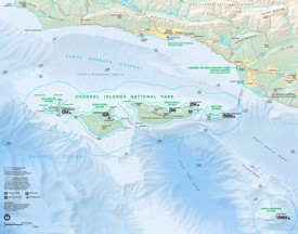 Channel Islands National Park tourist map