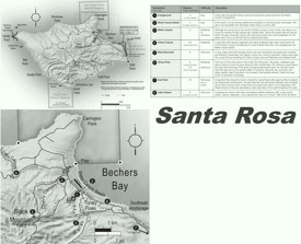 Santa Rosa Island hiking map