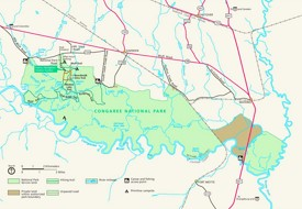 Congaree National Park tourist map