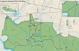 Congaree National Park trail map