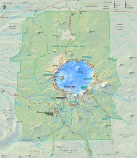 Crater Lake hiking map