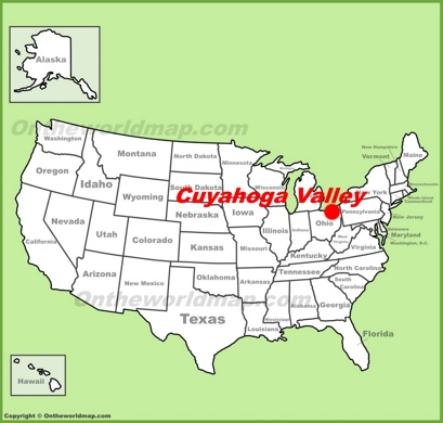 Cuyahoga Valley National Park Location Map