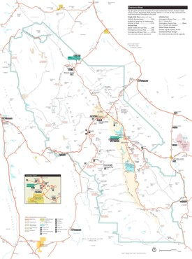Death Valley tourist map