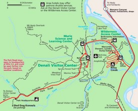 Denali National Park Maps USA Maps of Denali National Park and