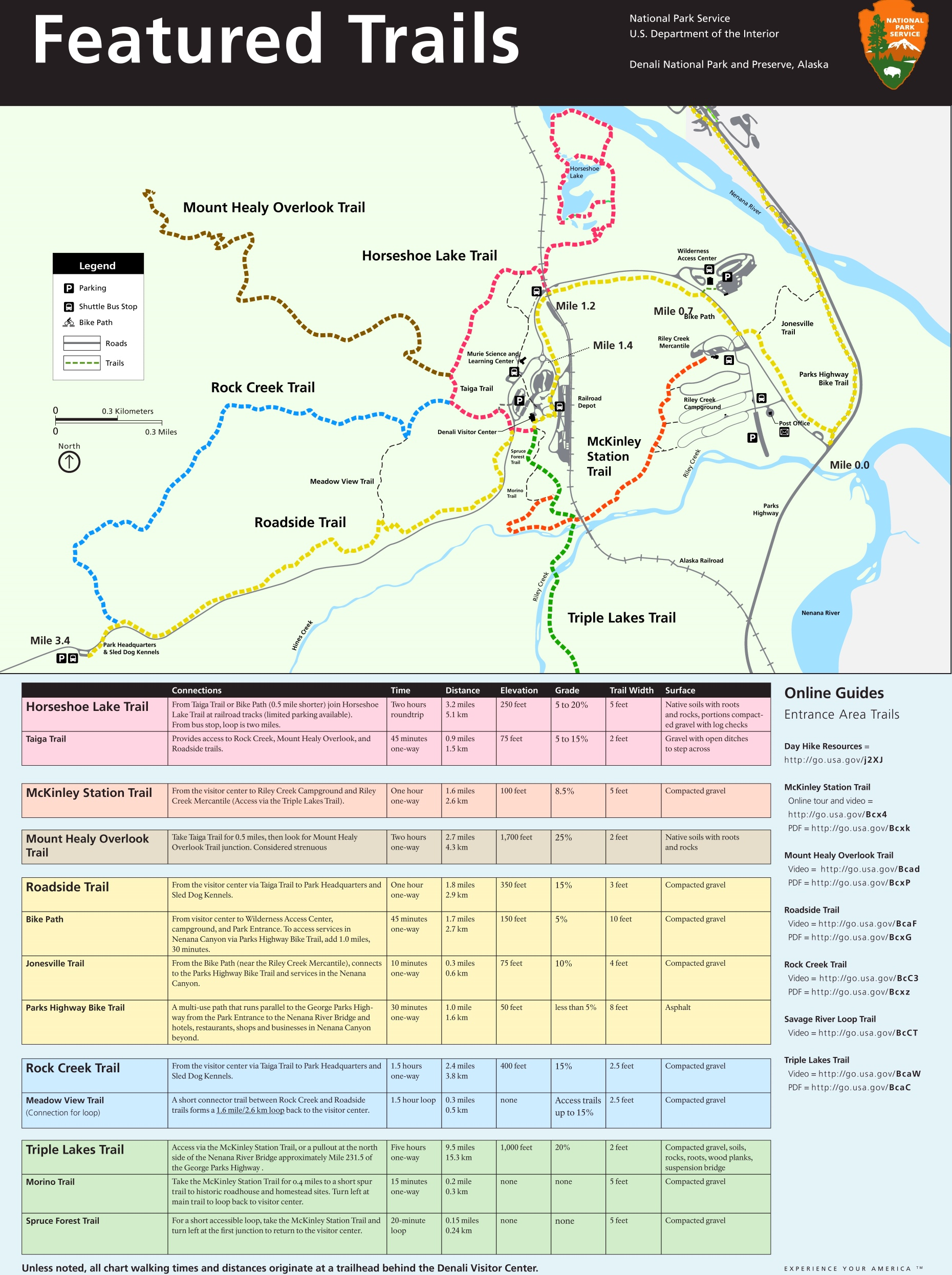 Denali featured trails map