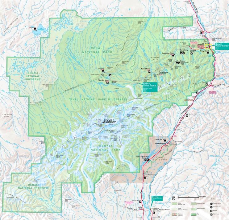 Denali National Park tourist map