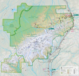 Denali National Park trail and camping map