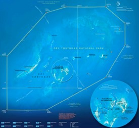 Detailed map of Dry Tortugas