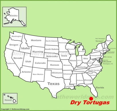 Dry Tortugas Location Map