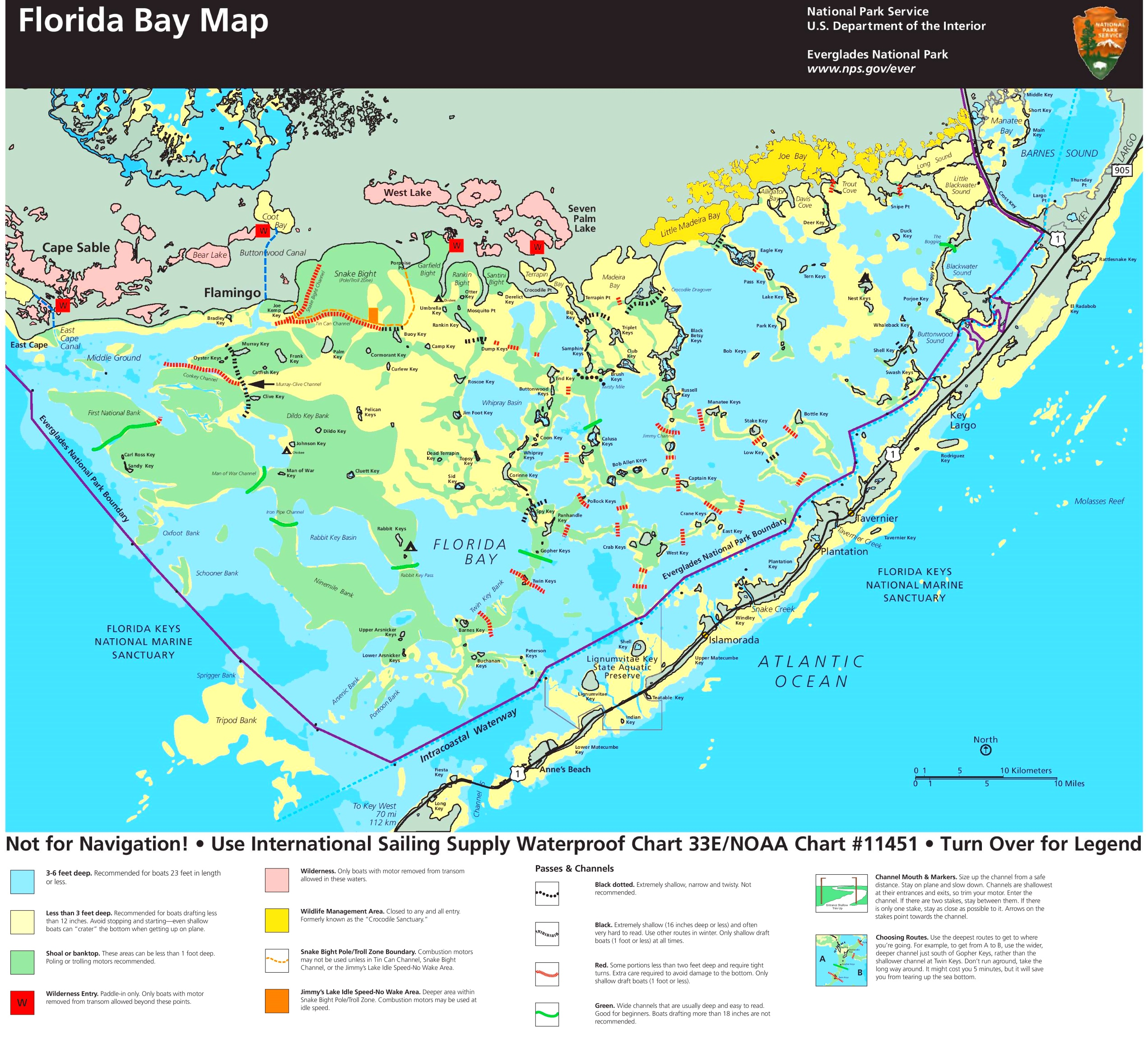 Map Of Florida Bays.Florida Bay Map