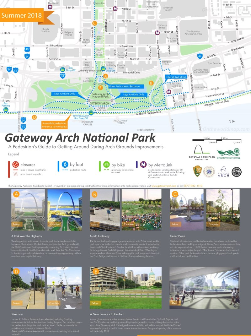 Map of Gateway Arch