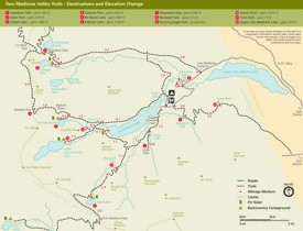 Two Medicine Valley trail map