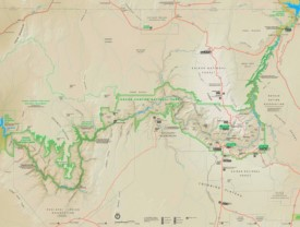 Detailed tourist map of Grand Canyon