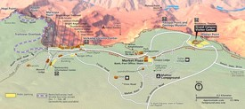 Detailed tourist map of Grand Canyon South Rim