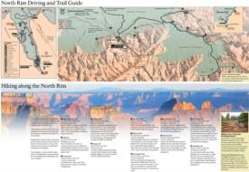 Grand Canyon North Rim hiking map