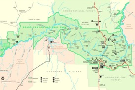Grand Canyon Maps USA Maps of Grand Canyon National Park