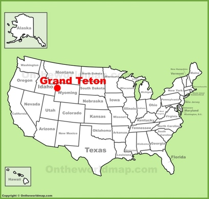 Grand Teton Location Map