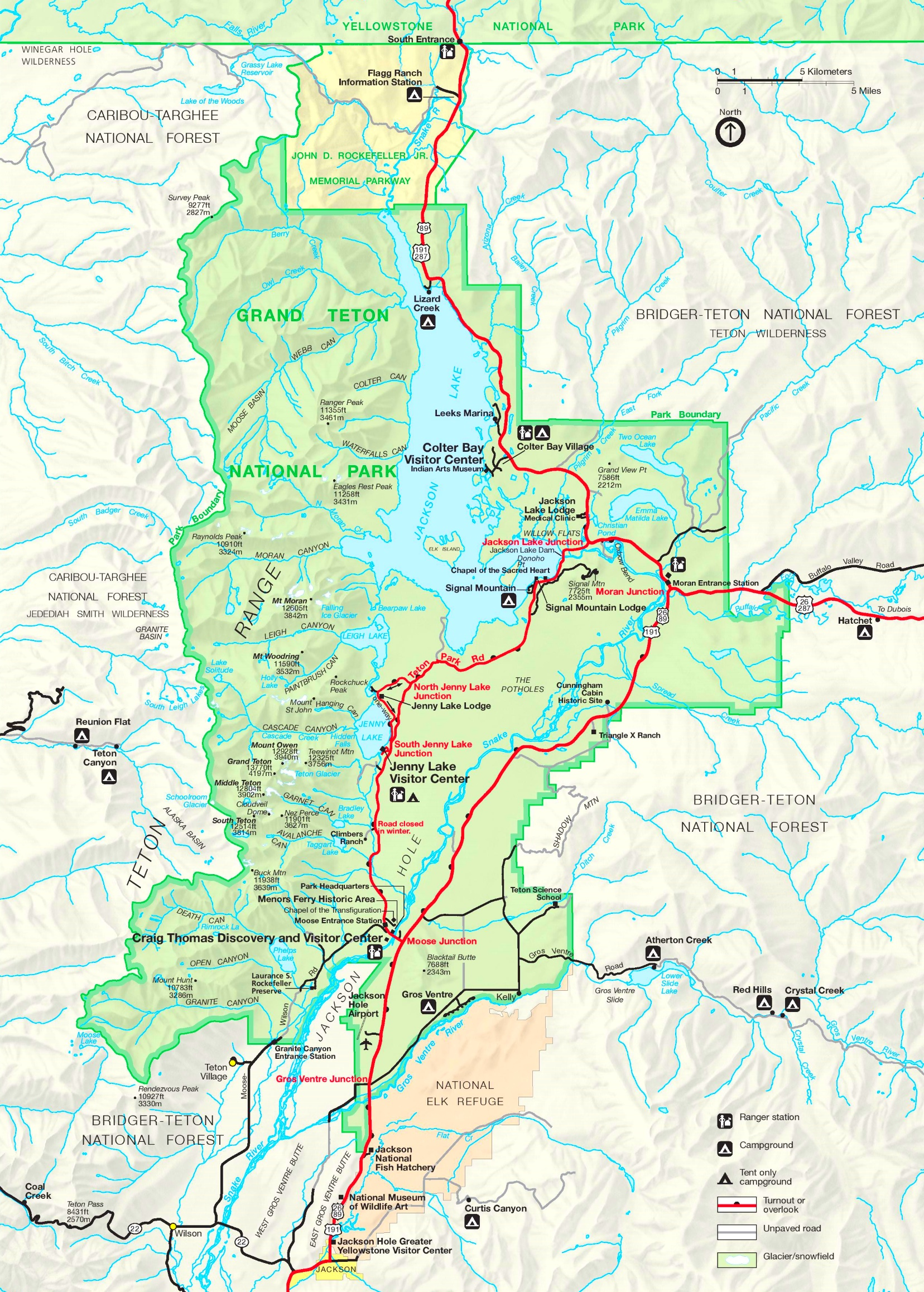 Grand Teton road map