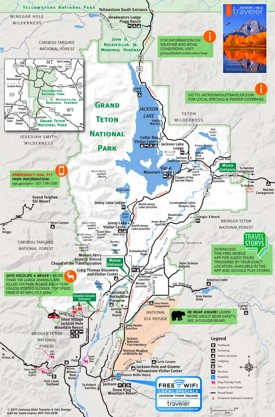 Grand Teton tourist map