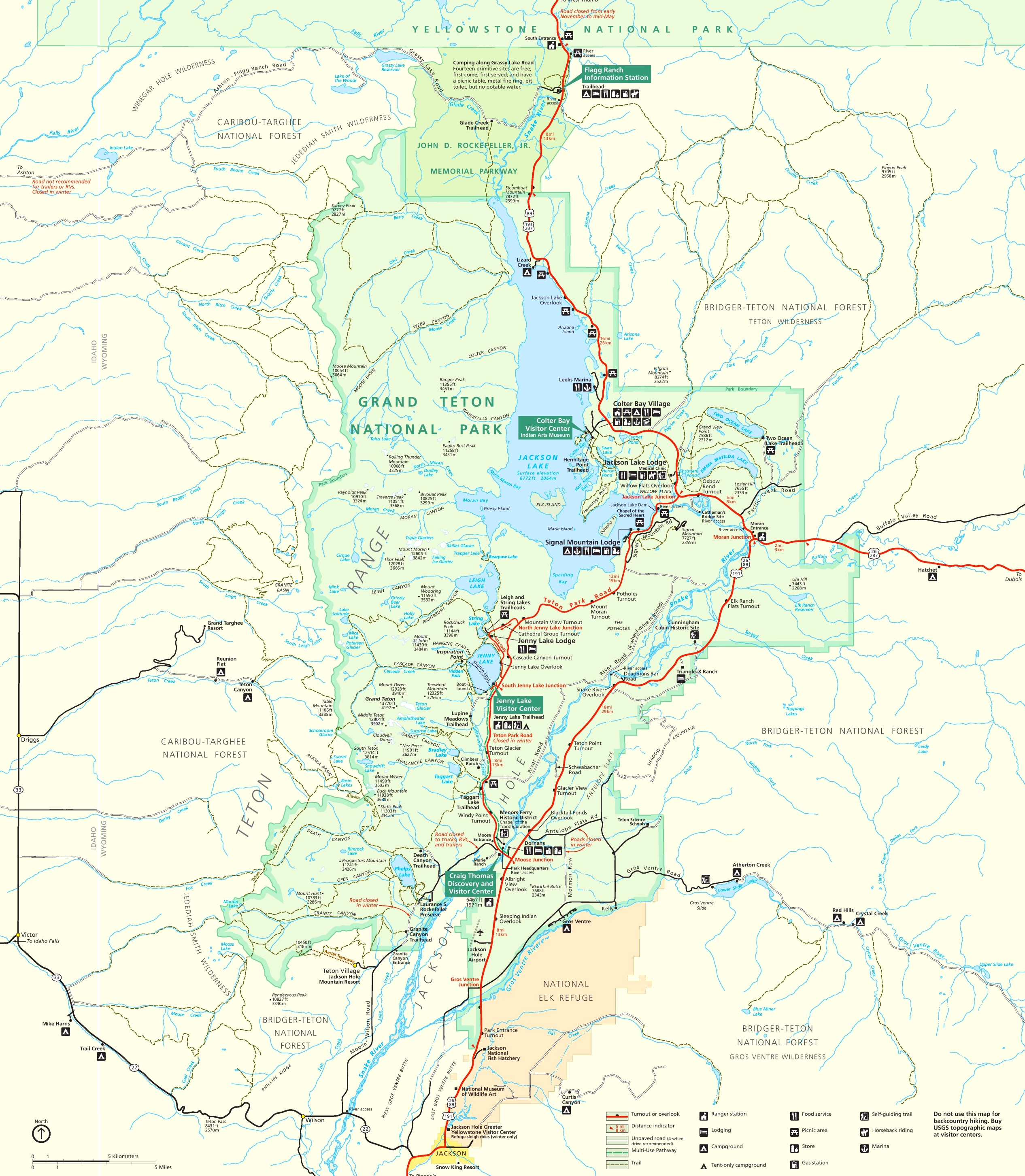 Grand Teton trail map