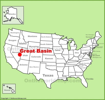 Great Basin Location Map