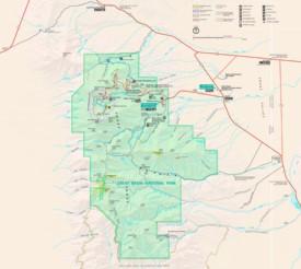 Great Basin tourist map