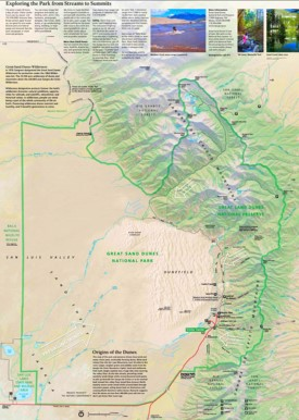 Detailed tourist map of Great Sand Dunes