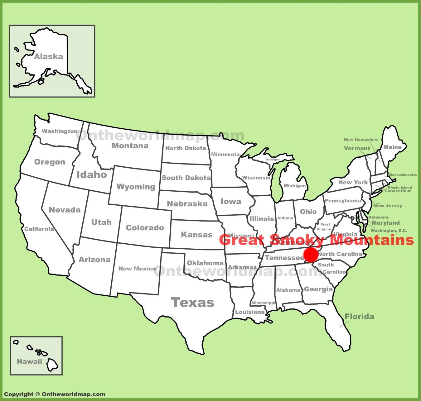 Great Smoky Mountains Map Great Smoky Mountains Maps | USA | Maps of Great Smoky Mountains