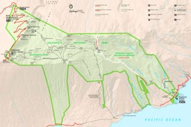 Detailed map of Haleakalā National Park
