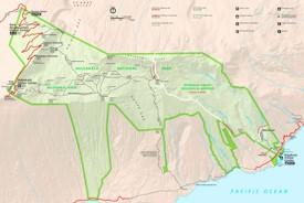 Detailed map of Haleakalā National Park