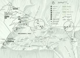 Haleakalā National Park trail and camping map