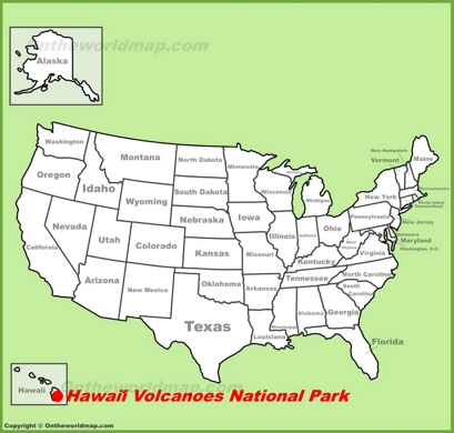 Hawaiʻi Volcanoes Location Map