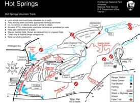 Hot Springs Mountain Trails map