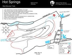 Hot Springs West Mountain trails map