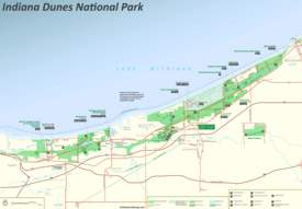 Indiana Dunes Tourist Map