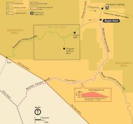 Joshua Tree Berdoo Canyon Road map
