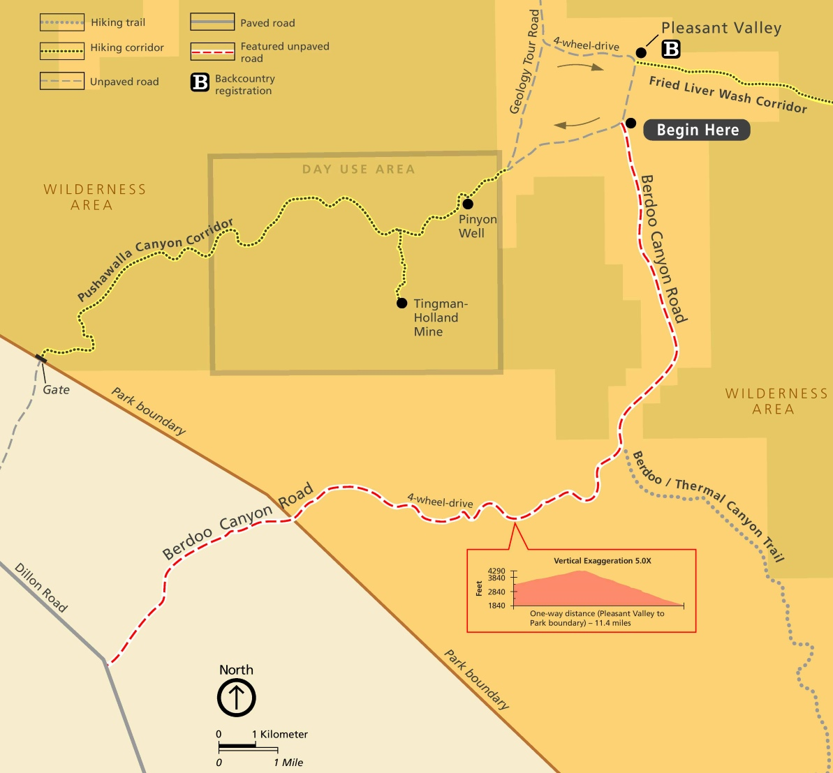 Joshua Tree Maps | USA | Maps of Joshua Tree National Park
