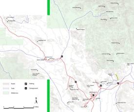 Joshua Tree Hidden Valley rock climbing map