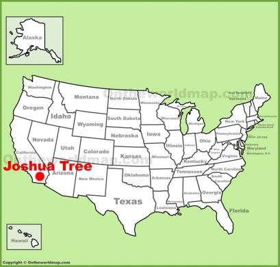 Joshua Tree Location Map