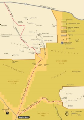 Joshua Tree Old Dale Road and Black Eagle Mine Road map