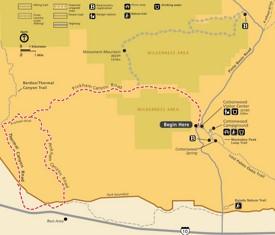 Joshua Tree Pinkham Canyon Road map