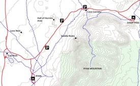 Joshua Tree Sheep Pass rock climbing map