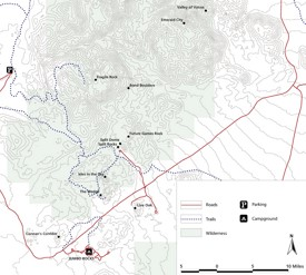 Joshua Tree area road map