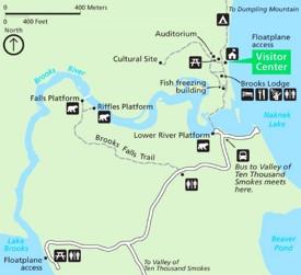 Katmai Brooks Camp map