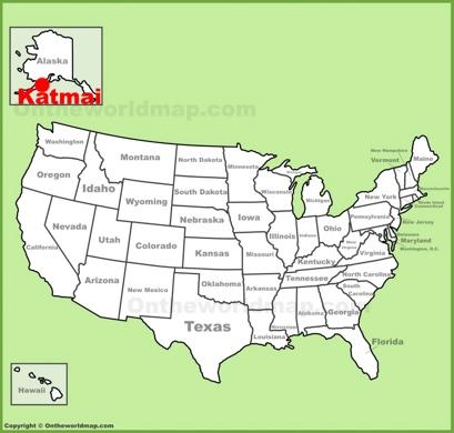 Katmai National Park Location Map
