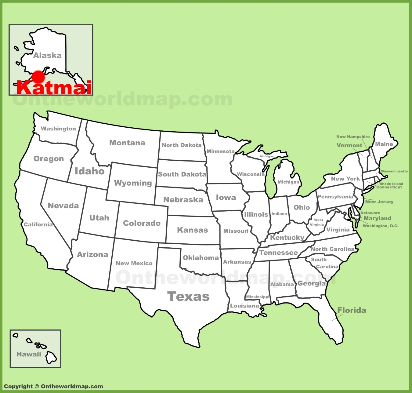 Katmai National Park Location On The US Map - National parks locations map